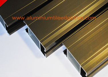 China Anti Corrosion Aluminium Door Profiles Extrusions Electrophoresis Champagne Color supplier