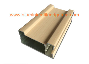China Different Design Aluminium Door Profiles Wood Grain /  Mill Finish 1.4-4mm Thickness supplier