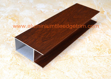 China Modern Type Aluminum Window Frame Extrusions Smooth Edges Wood Grain Color supplier