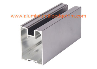 China Anodized Grey Aluminium Sliding Wardrobe Door Profiles 4-6m Length Anti Corrision supplier