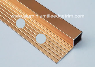 China Bright Polished Copper Aluminium Square Edge Tile Trim 10mm x 2m Length supplier