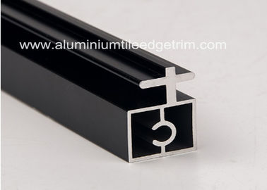 China Black Anodized Extruded Aluminium Profiles Channel Irregularity Shape Long Durability supplier