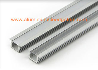 China Matt Silver Aluminum Square Tubing , LED Profile Aluminium Channel For Led Strip Lighting  supplier