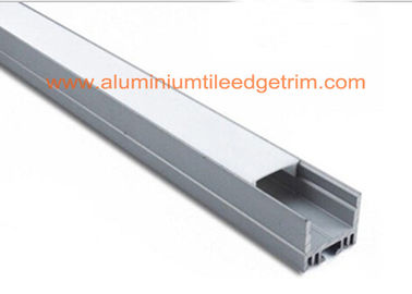 China White Silver Aluminum Square Tubing , Extruded Aluminum Led Profile Housing supplier