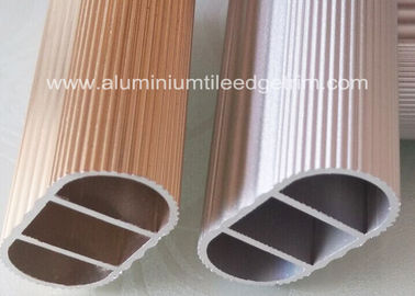 China Clothesline Pole Extruded Aluminum Tubing Anodized Surface For Wardrobe supplier