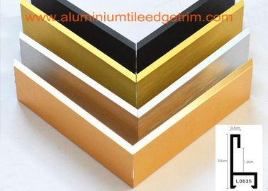 China Decorative Aluminium Picture Frame Mouldings Extrusions , Aluminium Picture Frame Profiles supplier