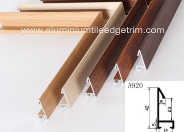 China Fashionable Aluminum Sectional Picture Frames Heat Transfer Printing Wood Grain Effect supplier