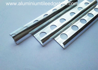 China Bright Chrome Aluminium Tile Edge Trim Curved Tile Edging Shiny Mirror Silver Finish supplier