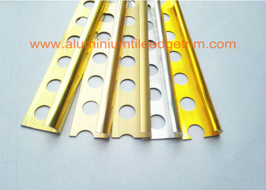 China External Corner Aluminium Tile Edge Trim , Metal Edge Trim For Ceramic Tile  supplier