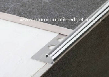 China 10mm Stainless Steel Round Edge Tile Trim / Outside Corner Trim Long Durability  supplier