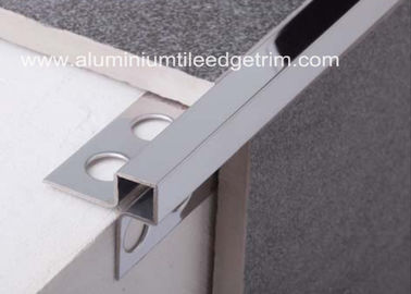 China Mirror Effect Stainless Steel Metal Bullnose Border Edge Trim For Outside Corner supplier