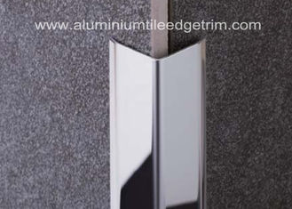 China Polished Stainless Steel Tile Trim / Angle Trim , Stainless Tile Edge Trim 20mm X 20mm X 2.44m supplier