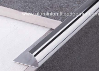 China External Corner Stainless Steel Tile Trim , Stainless Steel Quarter Round Trim supplier