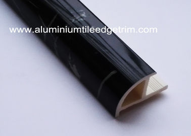 China Quadrant Black Inside Corner Tile Trim Marble Color Plastic Material For Kitchen Countertop supplier