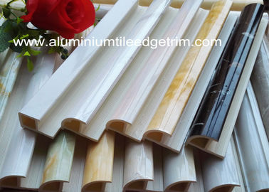 China Coloured Plastic Wall Tile Trim Edging Thermal Transfer Printing Elegant Design supplier