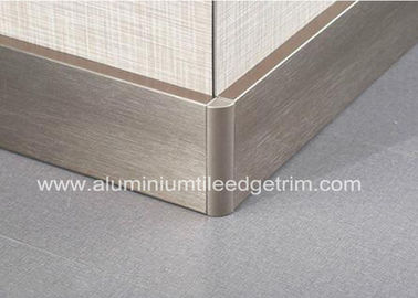China Titanium Gold Aluminium Skirting Boards Perth / Bunnings For Wall Edge Protection supplier