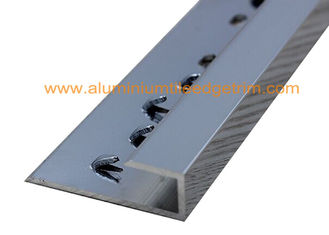 Silver Straight Aluminium Carpet Trim , Carpet Threshold Transition Strip Plates