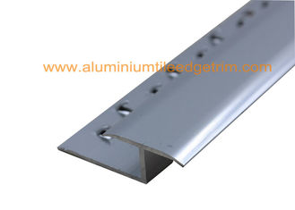 China Satin Matt Silver Aluminium Carpet Trim Metal Door Threshold Strips Hard Surface supplier