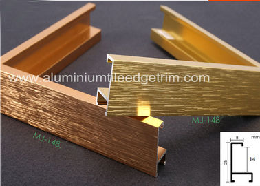 China Light Weight Brushed Aluminium Picture Frames Gold Color Snap Application supplier