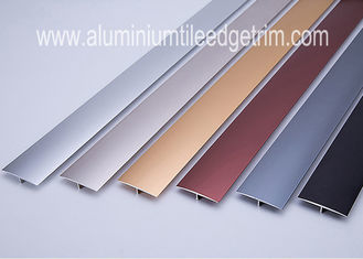 China Eco - Friendly Aluminum Floor Transition Profiles Anodized Color At Doorway / Threshold supplier