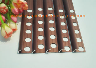 Rounded Face Edge Shower Porcelain Aluminium Tile Edge Trim 10mm Matt Copper