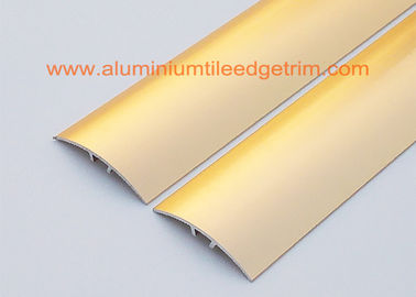 China Sand Gold Metal Aluminium Floor Trim For Doorway Threshold , Floor Tile Edging supplier