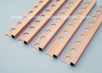 China Durable 10mm Metal Square Edge Tile Trim For Counter Top Or Window Sill supplier