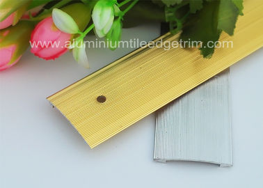 China Floor Transition Strips Metal Aluminium Carpet Trim , Carpet To Tile Trim supplier