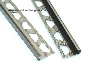 China Bronze Bullnose Edge Tile Trim Quarter Round With Aluminium 6063 T5 Material supplier