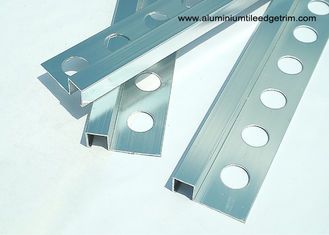 China Corrosion Resistance Chrome Aluminium Tile Edge Trim 10mm x 2.44m / 2.5m supplier