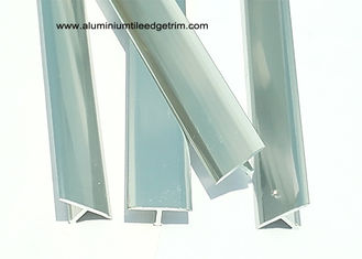 China T - shaped Aluminium Tile Edge Trim 20mm Width / Metal Tile Border Trim supplier
