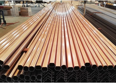 China Rose Gold Aluminium Wardrobe Rail Tube , Extruded Aluminium Sections supplier