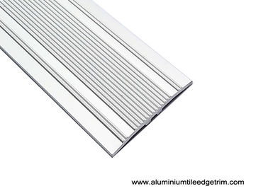 China Matt Silver Aluminium Floor Trims , 38 Mm Width Floor Tile Edging supplier