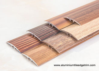 China Wood Effect Laminate Floor Metal Edging , Carpet To Wooden Floor Trim supplier