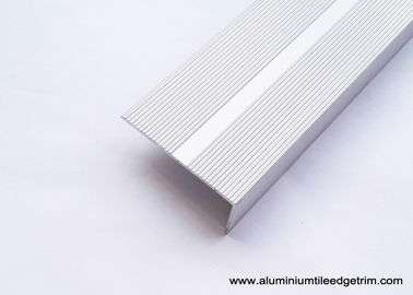 China Non Skid Straight Metal Stair Nosing , Wide Edging Stair Step Nosing  supplier