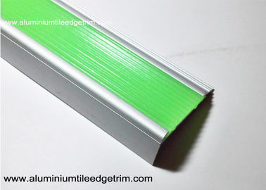 China Aluminium Photoluminescent Stair Nosing With 50 mm Width And 20 mm Height supplier
