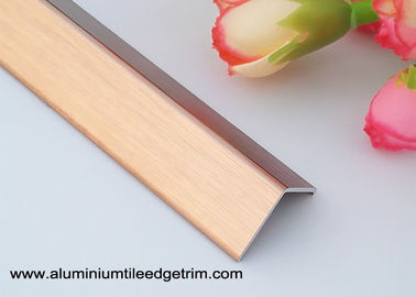China Brushed Anodized Rose Gold Aluminum Corner Guards With 1.5mm Thickness supplier