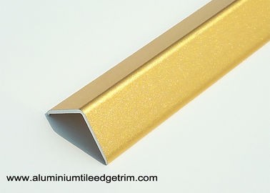 China Bright Golden 2cm Aluminum Corner Guards With Sand Blasting Effect 2.7m Length supplier