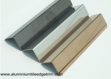 25mm X 25mm Aluminum / Stainless Steel Corner Guards For Walls Mirror Effect