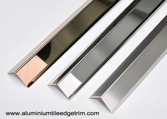 China Collision - Resistant Stainless Steel Corner Guards With 90° Right Angle / Metal Wall Edge Protector supplier