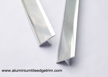 China Polished Chrome T Shaped Metal Tile Trim For Tile Edging Division 9mm Height supplier