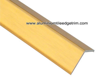 China Shiny Golden Brushed Aluminum Corner Guards 2cm x 2cm For House Decoration supplier