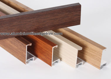 China Wood Grain Effect Aluminium Picture Frame Mouldings For Art Show supplier