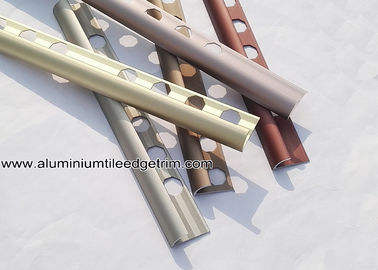 China Aluminium Alloy Satin Matt Anodized Ceramic Tile Corner Trim For Wall Tile Edge supplier