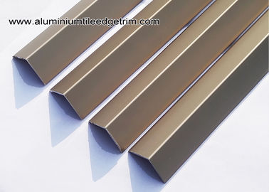 China Matt Champagne Square V - Shaped Angle Aluminum Corner Brace With 20mm Edge V20 supplier