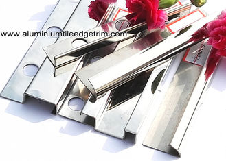 China Popular Type 10mm Stainless Steel Bullnose Corner Tile Trim With Square Edge supplier