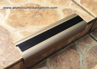 China Anodised Matt Champagne Aluminum Metal Stair Nose Moulding 35mm x 55mm  TL30 supplier
