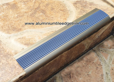 China Economic Aluminum Step Edging /  Nosing For Stair Tread Matt Champagne NLP8.0 supplier
