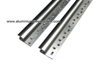 China Aluminum Laminate To Carpet Threshold / Trim / Door Strip With Glossy Silver supplier