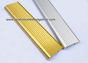 China F Type Toothed Anti - Skid  Metal Aluminum Stair Nosing For Tile supplier